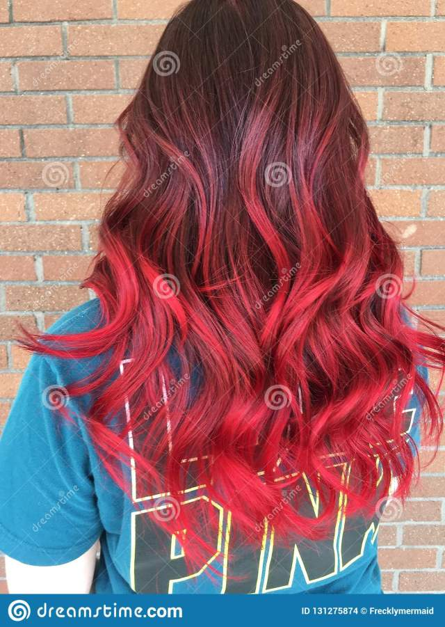 red hair don't care stock photo. image of colored