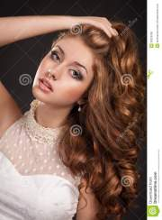 fashion woman with brown hairs