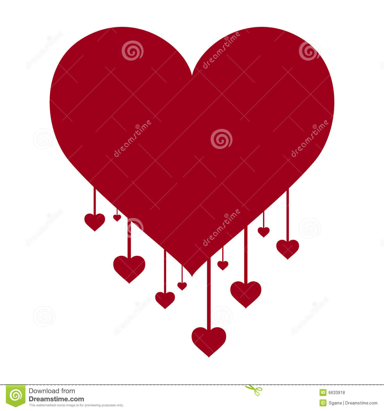 Red Hearts Large And Small Royalty Free Stock Photos