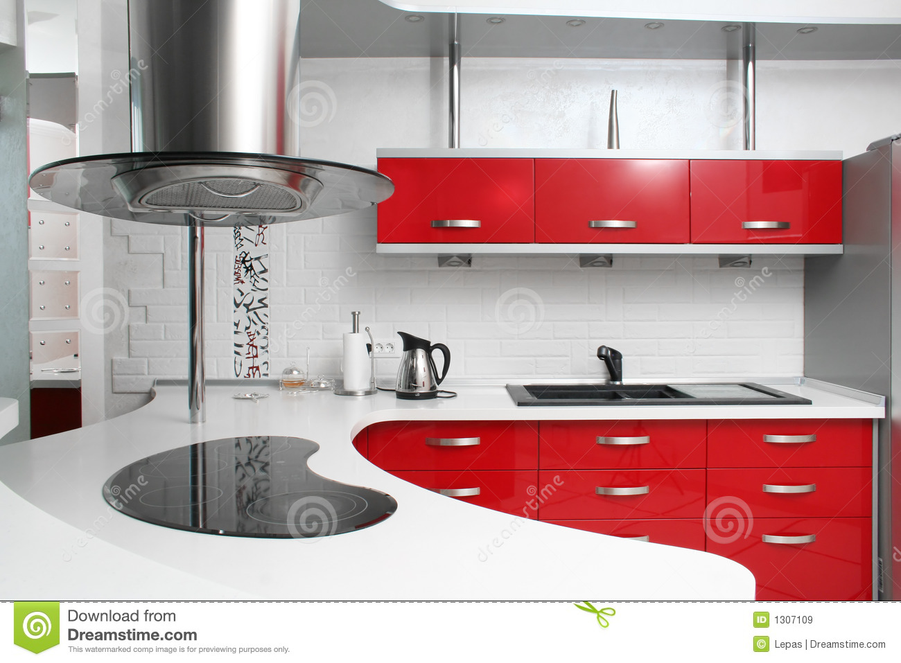 Red Kitchen Royalty Free Stock Images  Image 1307109