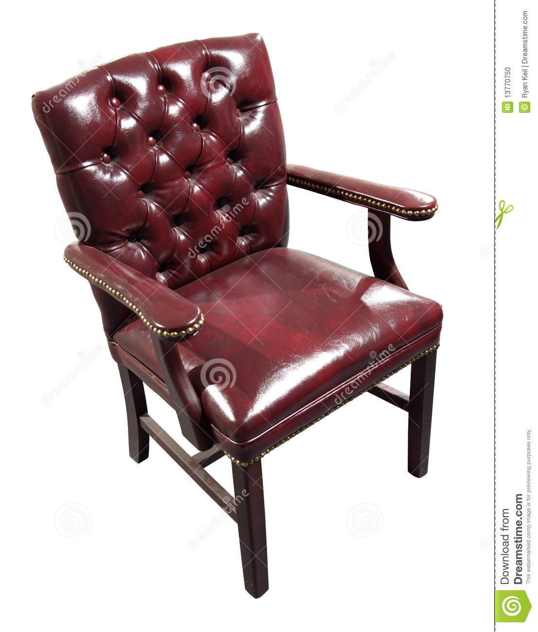 red leather desk chair barcelona style uk stock photo image 13770750