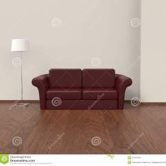 Cherry Red Leather Sofa Serta Dream Convertible Couch Stock Illustration Image 67437919
