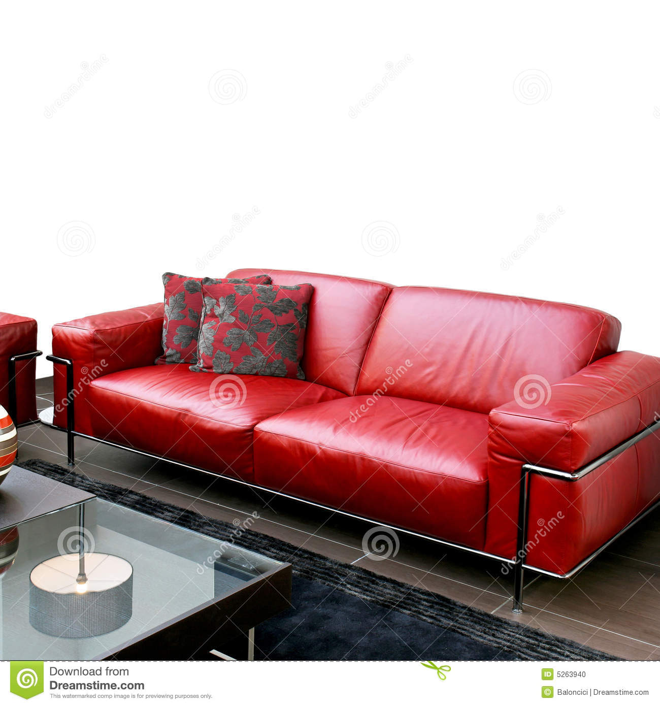 red leather sofas and chairs home 3 seater rattan effect mini corner sofa instructions stock photo image 5263940