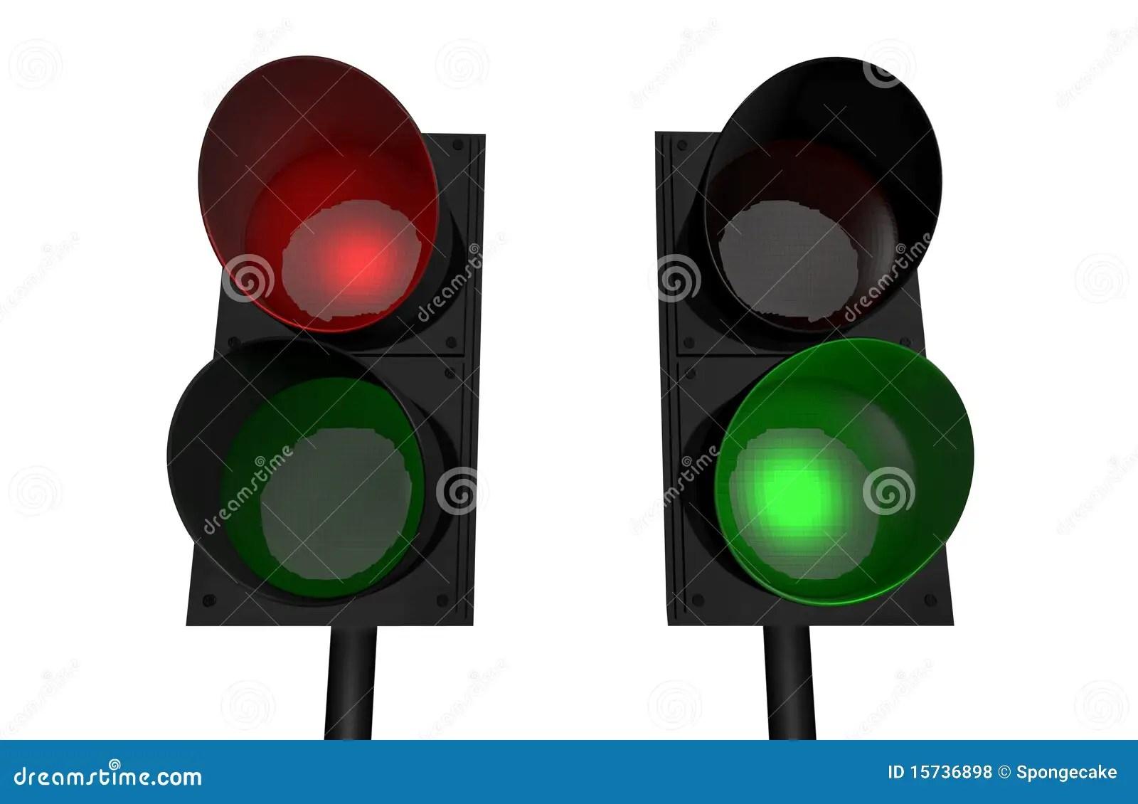 Red Light Green Light Stock Illustration Image Of Render