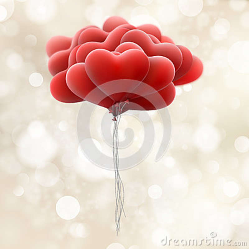 Download Red love balloons. EPS 10 stock vector. Illustration of ...