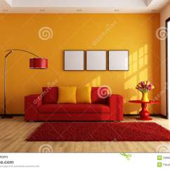 Modern Orange Chair Grey Sashes Red And Living Room Stock Images - Image: 28662354