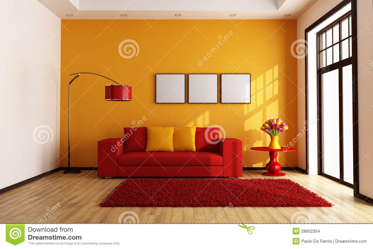 green and red living room shelving ideas orange stock images - image: 28662354