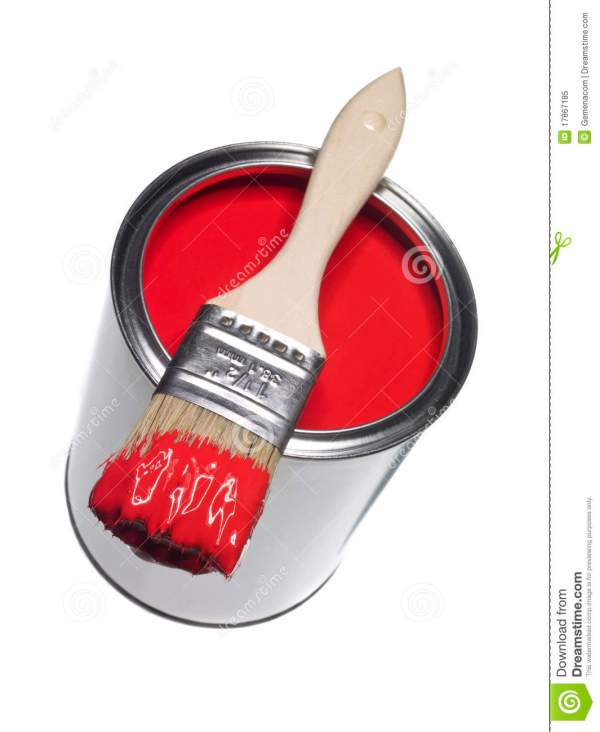 Red Paint And Brush Royalty Free Stock - 17867185