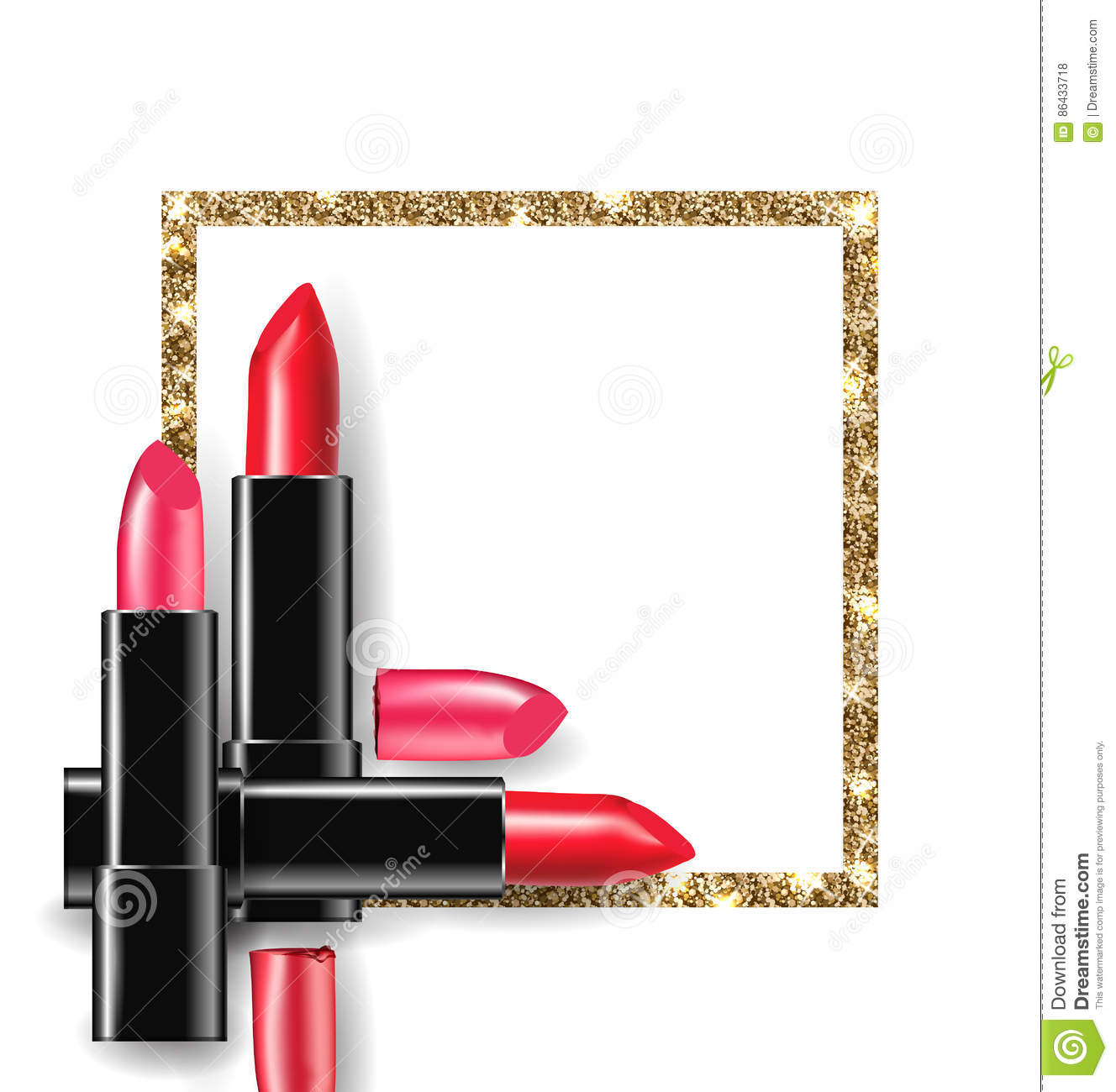 red and pink lipstick