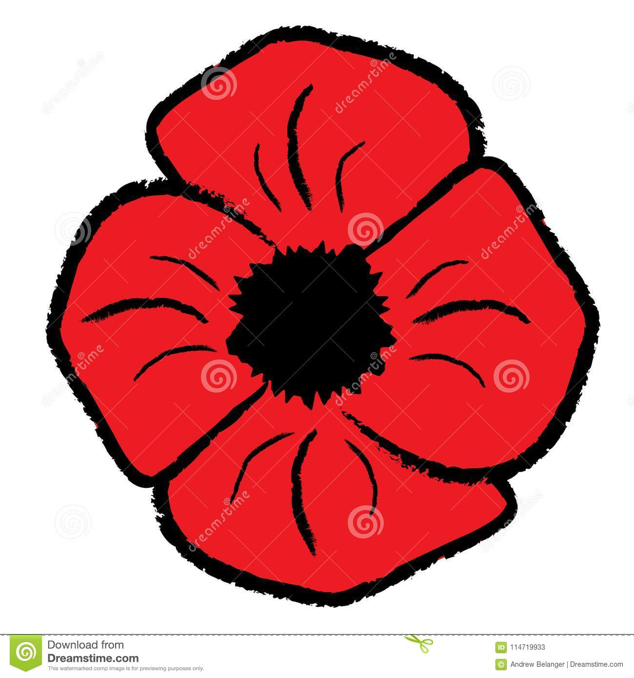 hight resolution of red poppy clipart