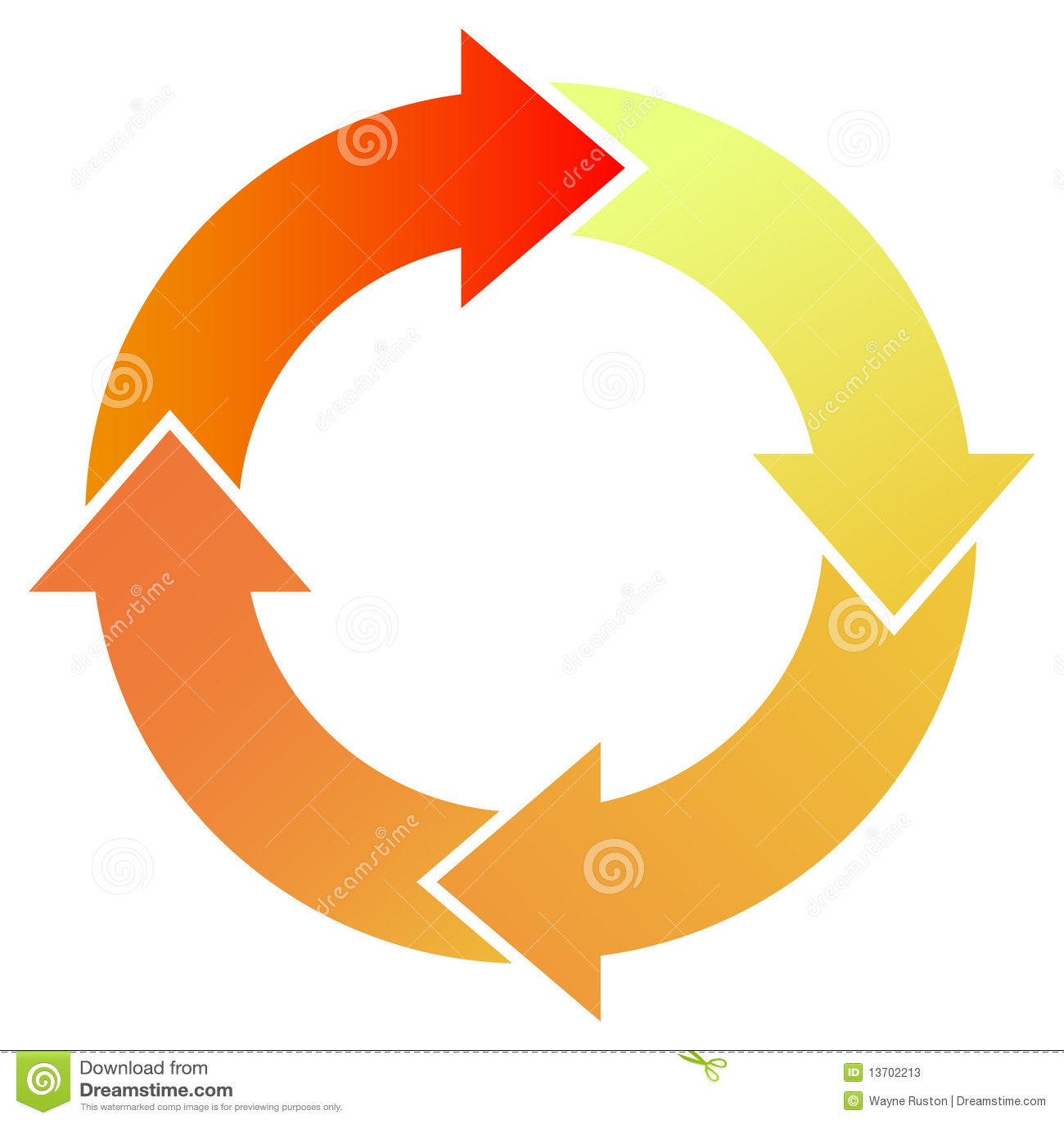 arrow circular process diagram hp laptop red arrows stock vector image of round business