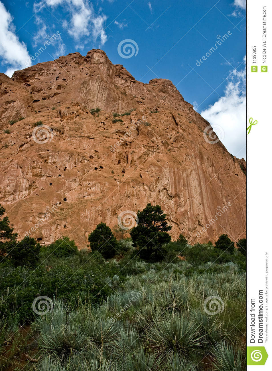 Red Rock Garden Of The Gods Royalty Free Stock Images