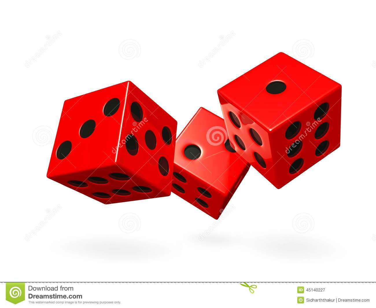 Red Rolling Game Dice Stock Illustration Illustration Of