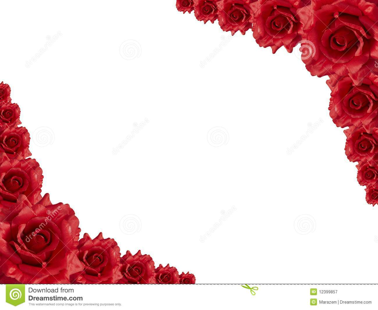 Red rose frame stock image Image of mothers bridal