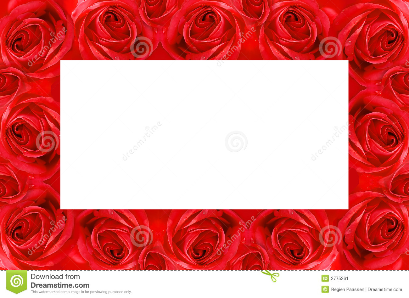Red Rose Frame Stock Image Image 2775261