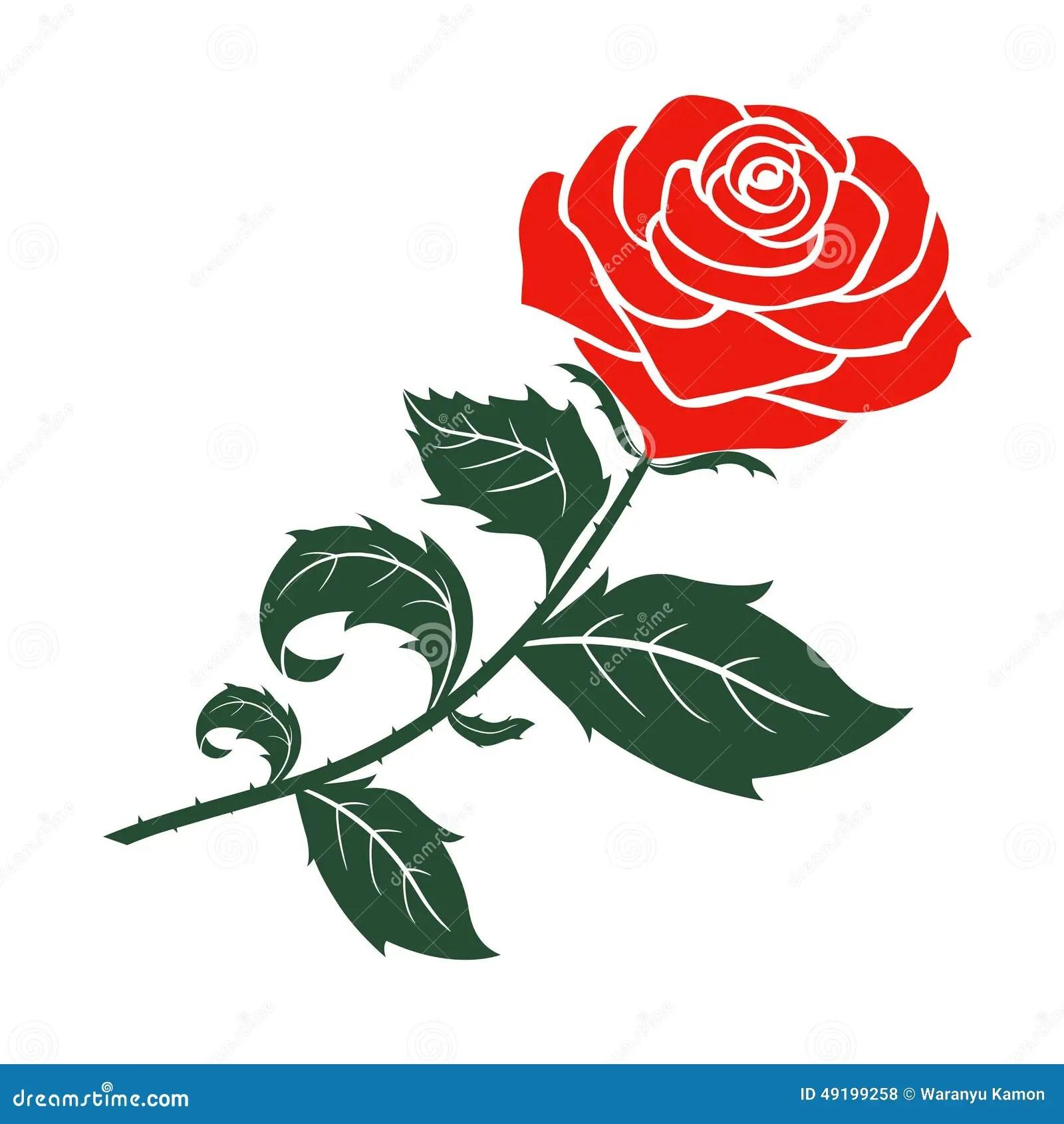 Red rose vector design stock vector. Illustration of