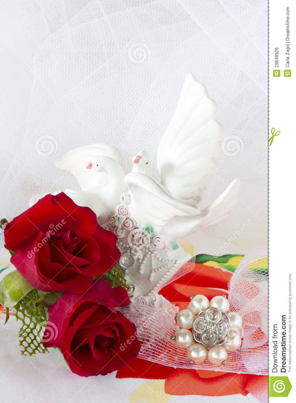 Red Roses And Wedding Rings Stock Photo  Image of diamond