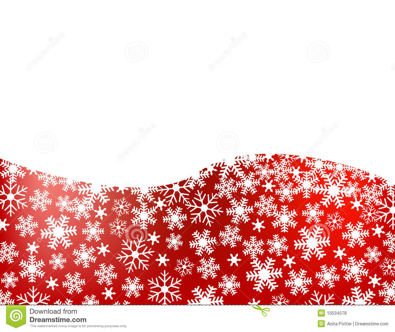 Christmas Wallpaper Snow Falling Red Snowflake Background Stock Vector Illustration Of