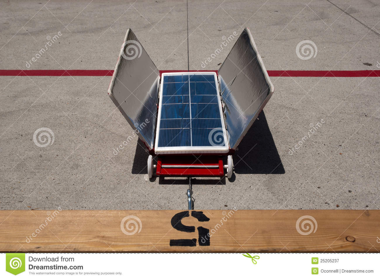 Red Solar Car Lane 5 Editorial Photography  Image 25205237