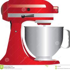 Kitchen Aid Stand Up Mixer Raymour And Flanigan Sets Red Stock Vector. Illustration Of Silver ...