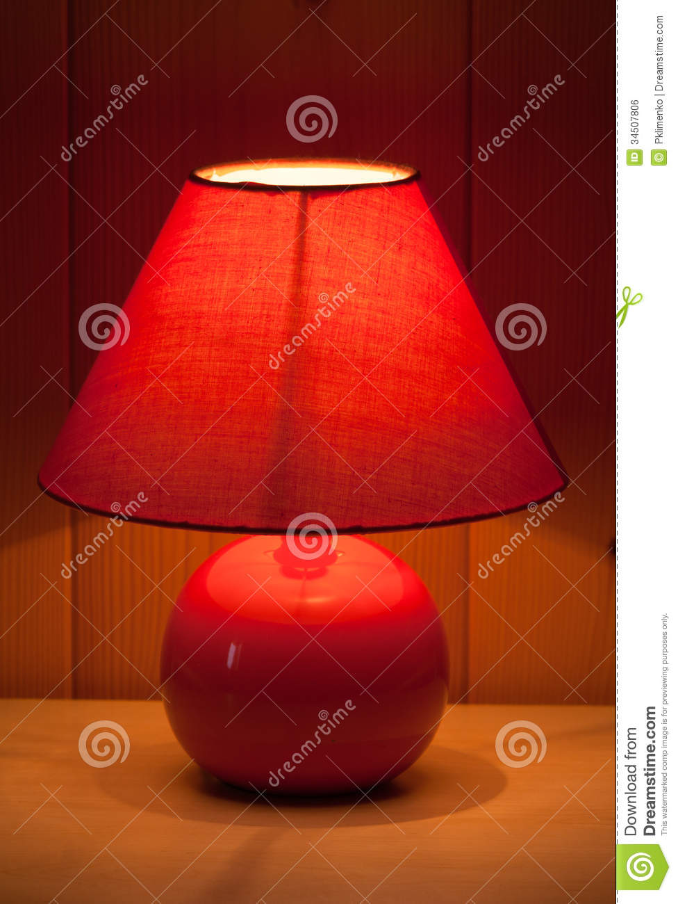 Red Table Lamp Royalty Free Stock Image Image 34507806