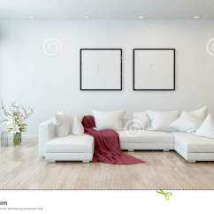 White Sofa Living Room Coral Paint Color For Red Throw On In Modern Stock Illustration Architectural Interior Of Open Concept Apartment High Rise Condo Blanket Sectional With