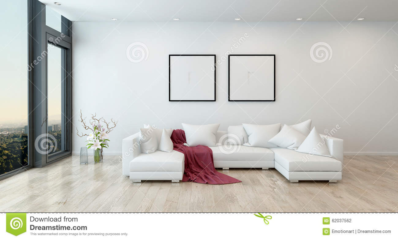 white contemporary living room city furniture tables red throw on sofa in modern stock illustration architectural interior of open concept apartment high rise condo blanket sectional with