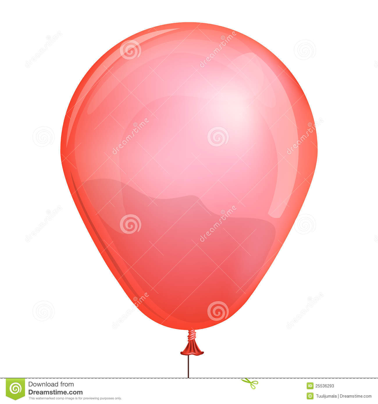 Red Toy Balloon Stock Vector Image Of Celebrate Object
