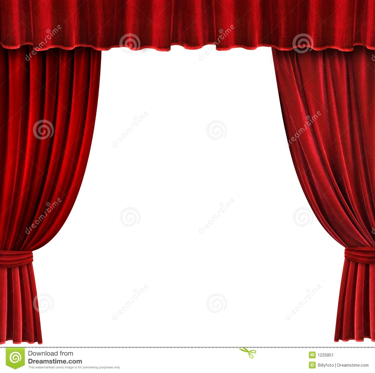 Red Velvet Theater Curtains Stock Image  Image of drapery