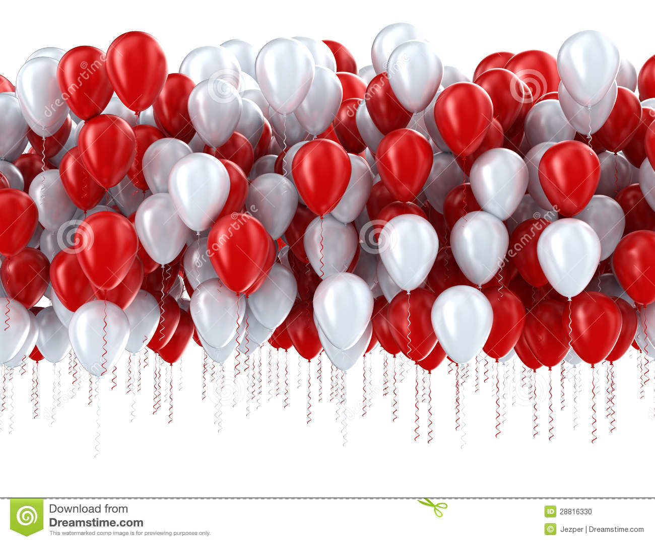 Red And White Party Balloons Stock Photo Image 28816330