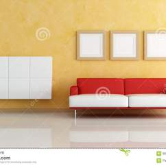 Red Sofa White Living Room Beautiful Rooms With Fireplaces And In A Orange Stock Illustration Contemporary Cabinets Empty Frame Rendering