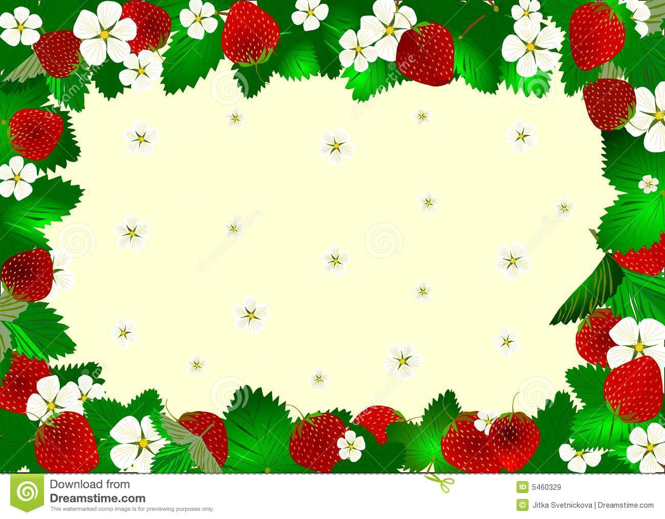 Reds Strawberry Frame Royalty Free Stock Images Image