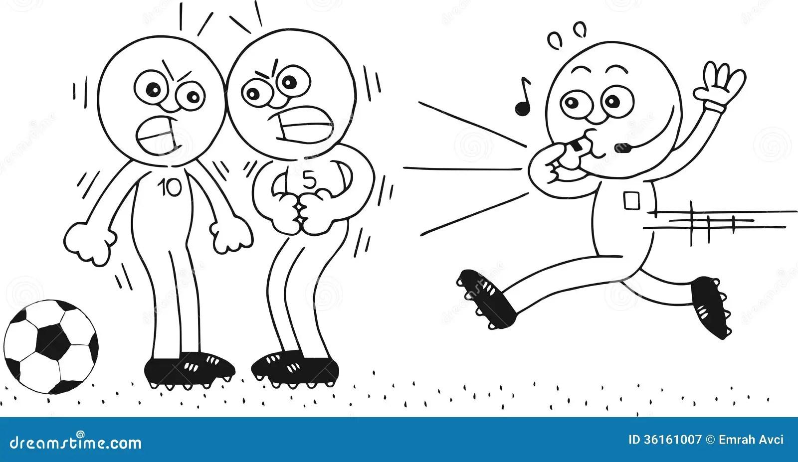 Referee Running Stock Illustration Illustration Of