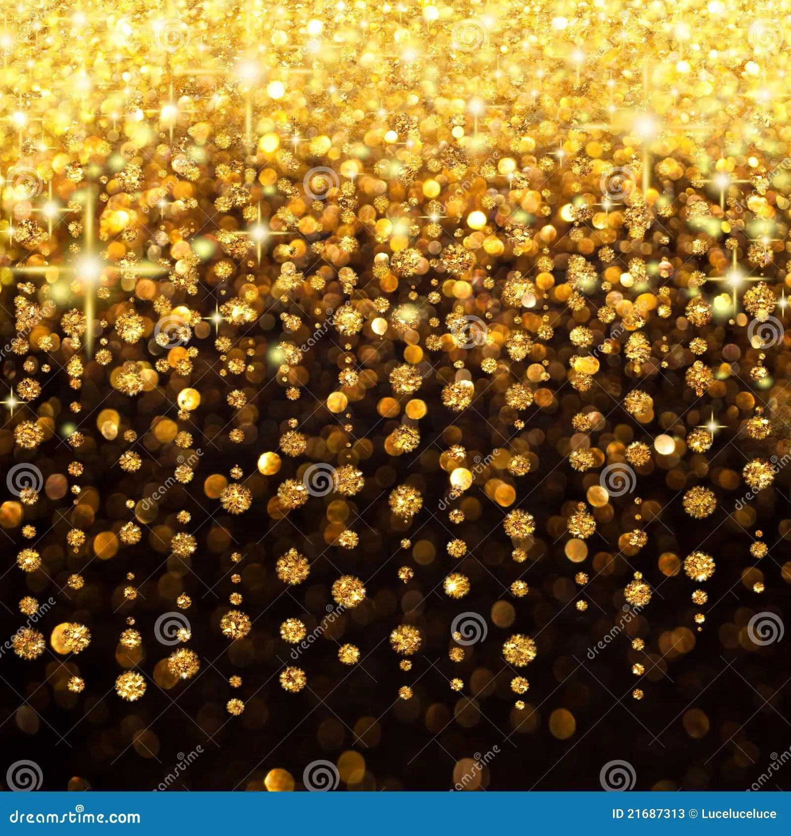 Falling Gold Sparkles Wallpaper Regen Van Kerstmis Van Lichten Of De Achtergrond Van De