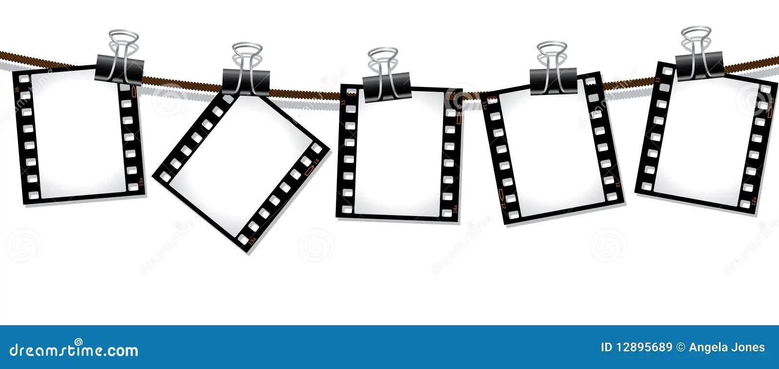 Reihe der Filmnegative vektor abbildung. Bild von feld