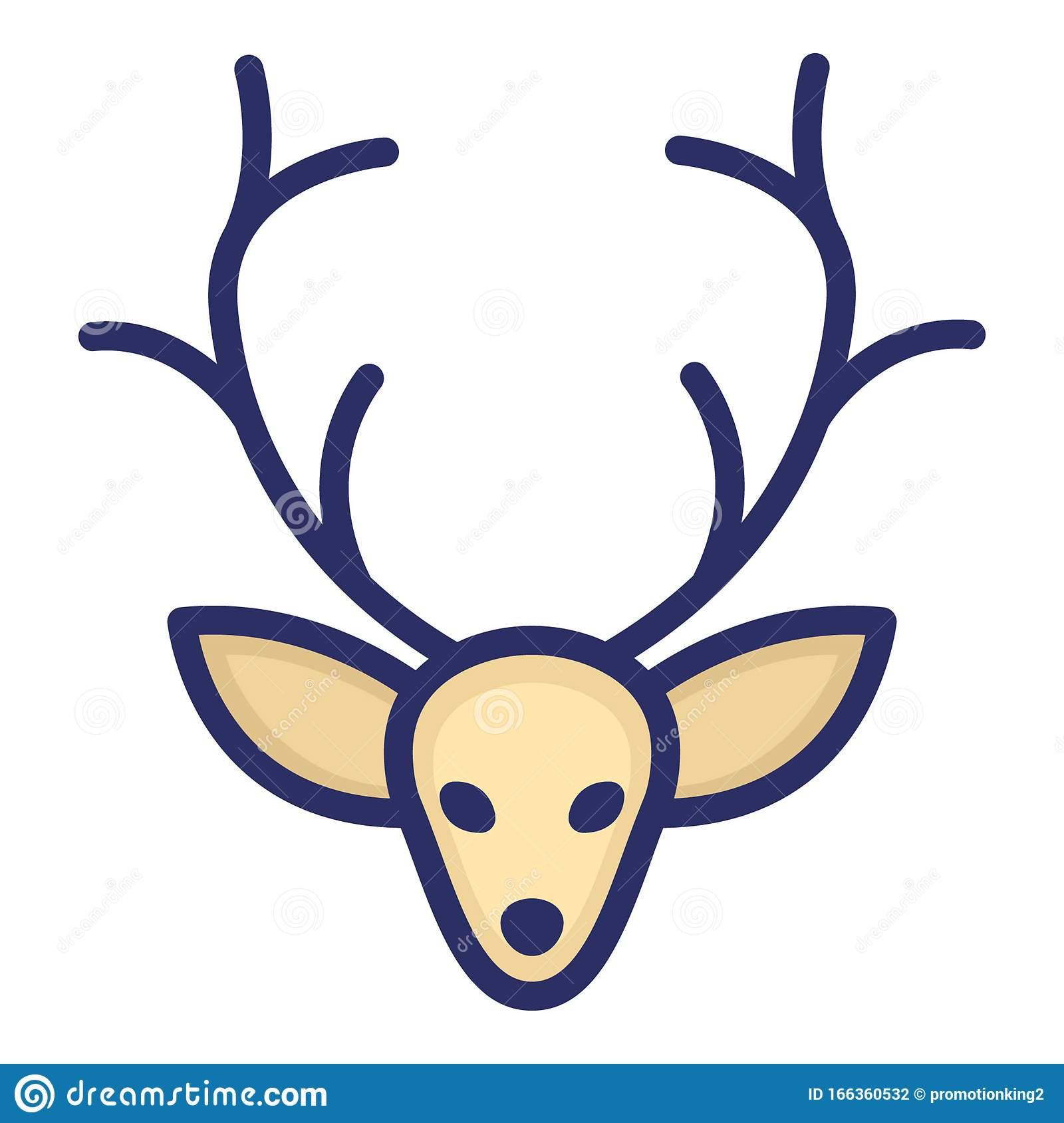 Reindeer Isolated Vector Icon Which Can Be Easily Modified