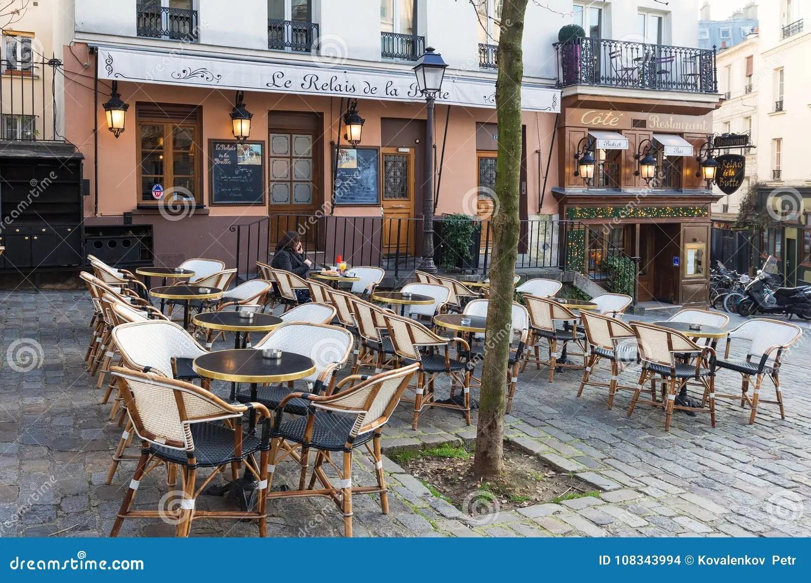 https www dreamstime com relais de la butte historical restaurant located montmatre area paris france paris france january le relais de la image108343994