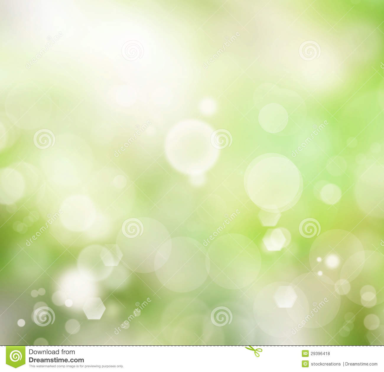 Relaxing Blurred Green Glowy Background Stock Photo