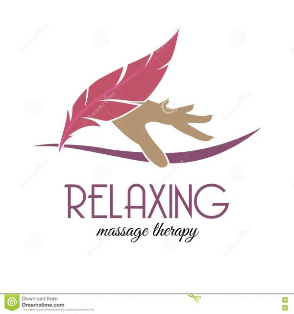 Relaxing Logo. Massage Therapy. Stock Illustration - 73772721