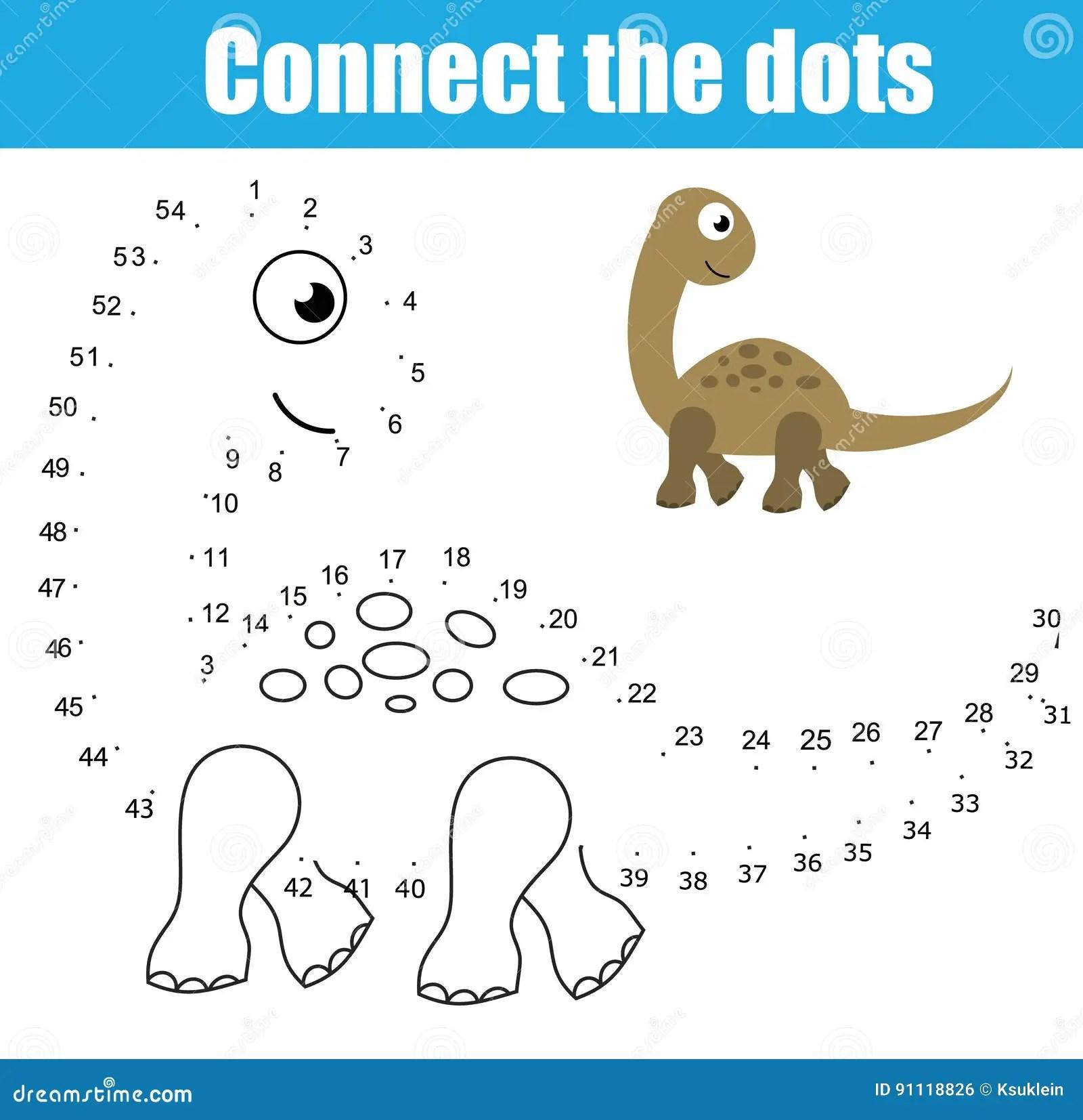Reliez Les Points Par Le Jeu Educatif D Enfants De Nombres