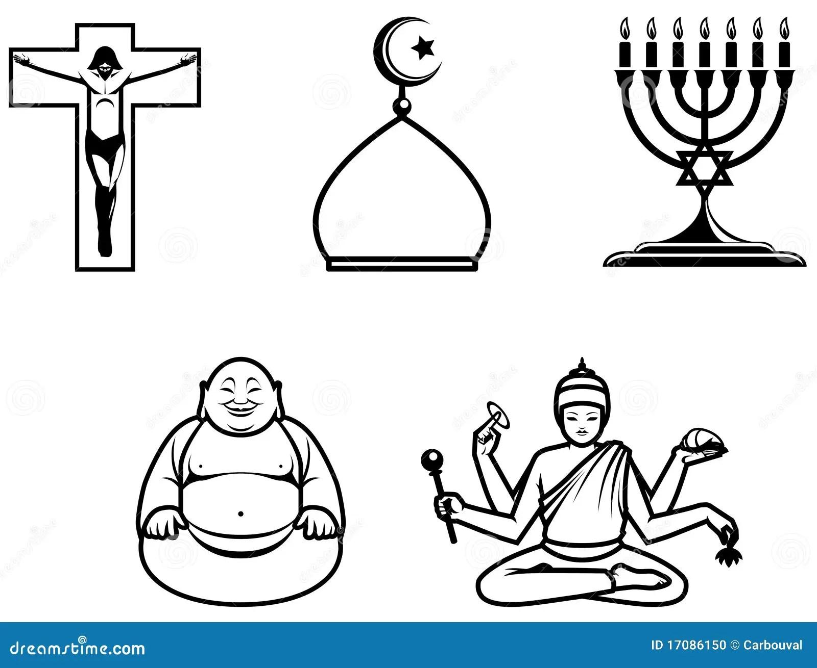 Religiosa Symboler Stock Illustrationer Illustration Av