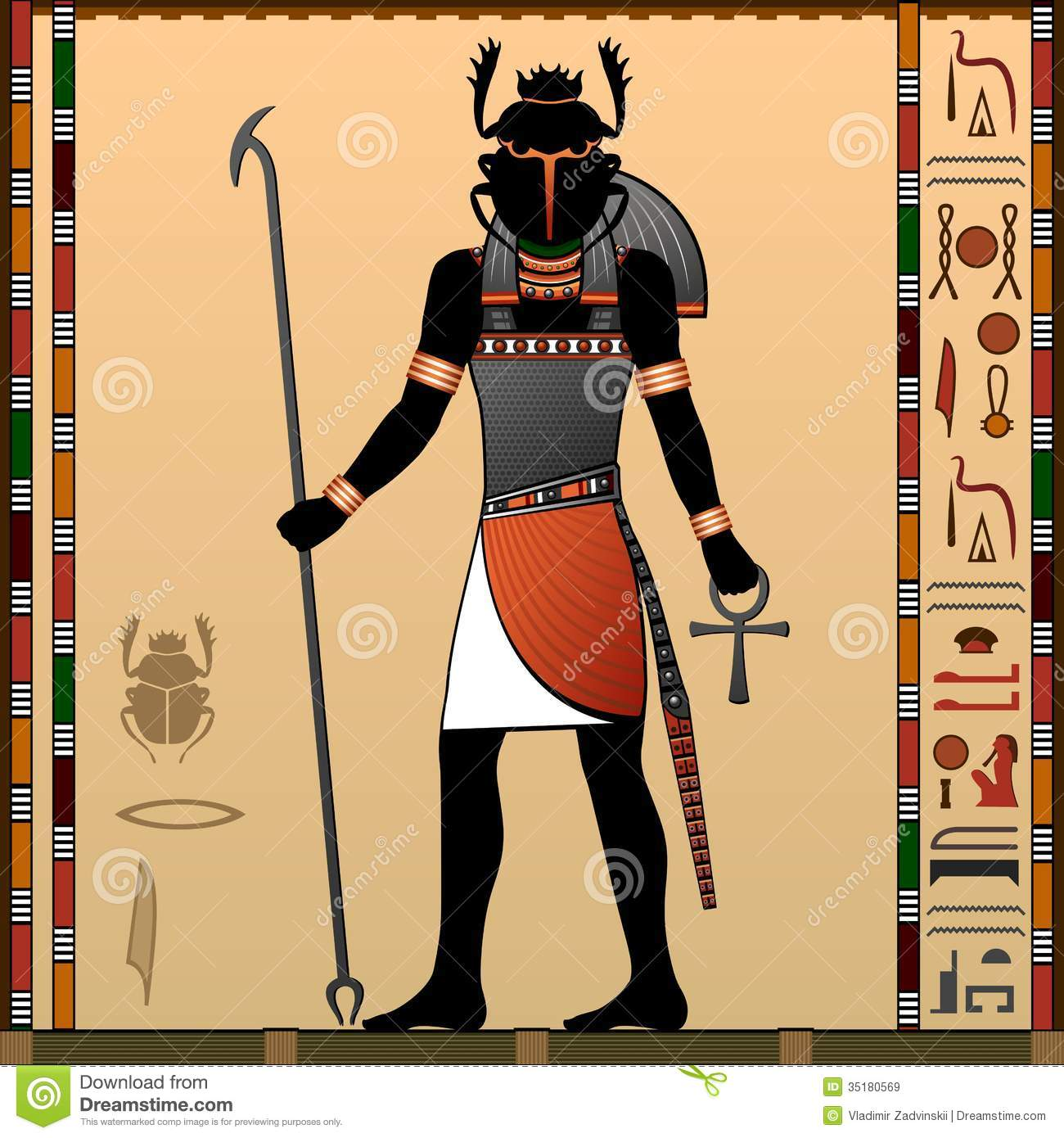 Religion Of Ancient Egypt Stock Vector Illustration Of