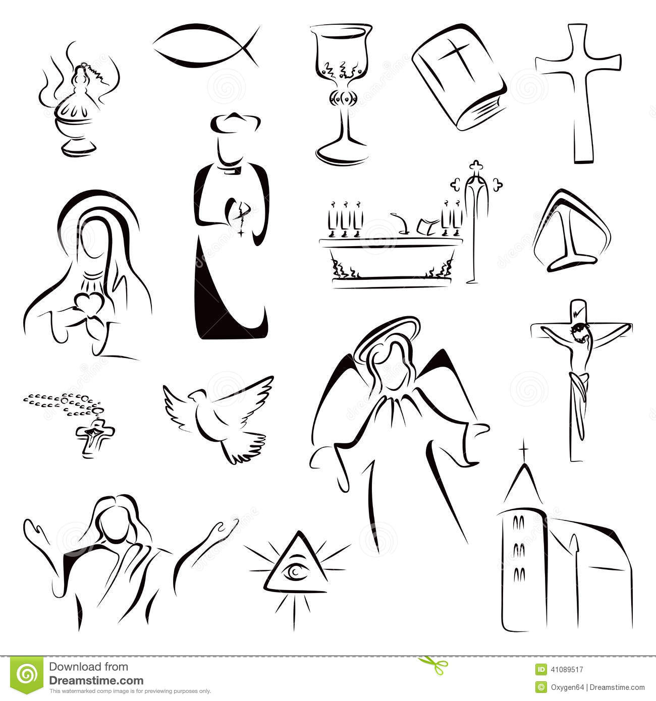 Religion Icons Stock Vector