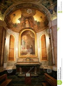 Religious Altar With Decorations Faithful Royalty Free