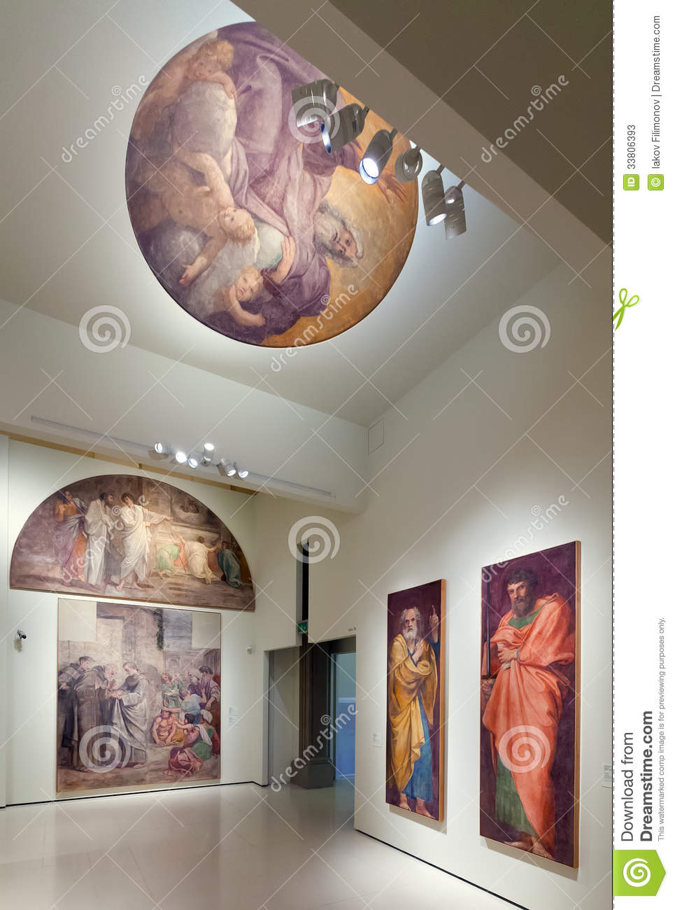 Religious Paintings In The Medieval Art Hall Editorial Stock Photo  Image 33806393