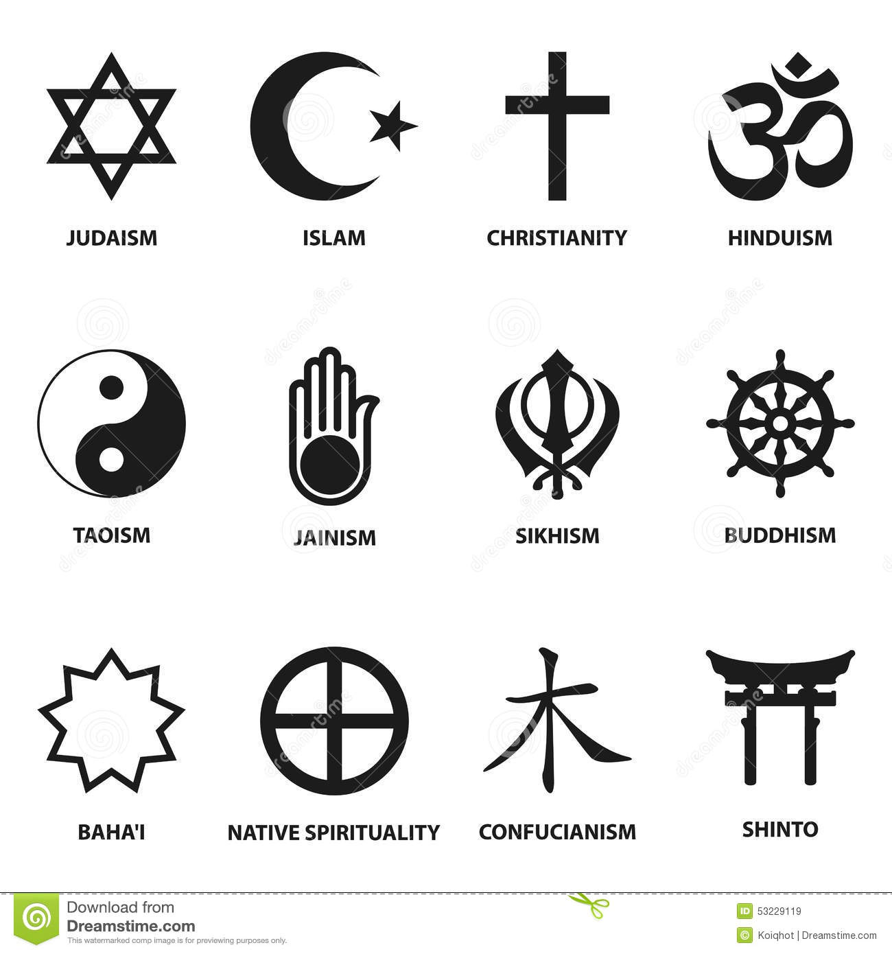 Religious Sign And Symbols Stock Vector