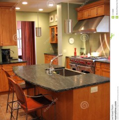 Stainless Steel Kitchen Cabinets How To Design The Remodeled, Royalty Free Stock Photo - Image: 1110895