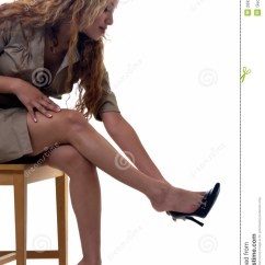 High Heel Chair Hanging For Inside Removing Shoes Stock Photo. Image Of Modern, Clothing - 2692270