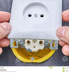 installing top panel on household electrical socket stock photo surface mount electrical wiring to download surface mount electrical [ 1300 x 957 Pixel ]
