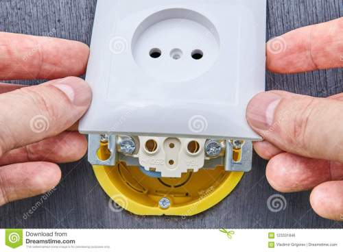 small resolution of installing top panel on household electrical socket stock photo surface mount electrical wiring to download surface mount electrical